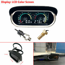 LCD Digital  Water Temperature Oil Pressure Gauge Panel W/ Sensor For Car Truck