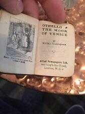 Othello Miniature Shakespeare Book 1932 Allied Newspaper P