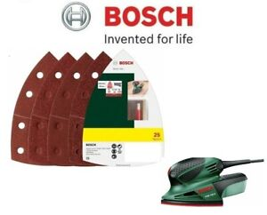 BOSCH Mixed Grit Delta Sanding Sheets (25 Pack) (To Fit: Bosch PSM 100A Sander)