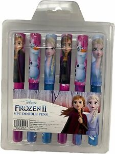 Disney Frozen II Anna Elsa Olaf 6-pack Collectible Doodle Writing Pens
