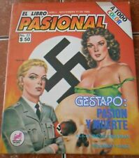 1985 LIBRO PASIONAL comic GESTAPO nazi WWII uniform hitler world war II VINTAGE
