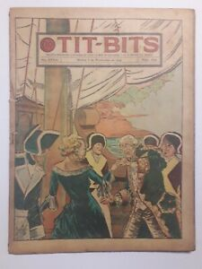 THE GIRL WITH THE IRON MUZZLE! - TIT-BITS #1846 (1944) - ORIG. COMIC IN SPANISH
