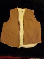 Vintage MENS L Carhartt 6SV Duck Sherpa Lined Canvas Work Vest Made USA