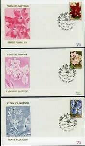 Belgium Scott #1187-1189 FIRST DAY COVERS Ghent Flower Festival FLORA $$