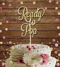 Pronto a pop Glitter cake topper baby shower MAMMA DA DECORAZIONE GLITTER ORO