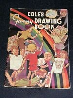 Vintage 1953 Coles Funny Drawing Book by J.W.Sampson (Rare Puzzle Book)
