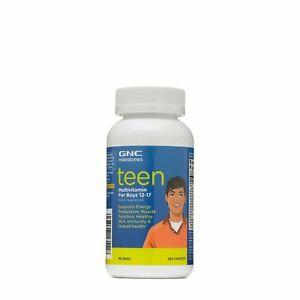 GNC Milestones Teen Multivitamin for Boys 12-17 120 Caplets EX:12/2021