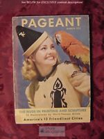 PAGEANT Magazine March 1947 Virginia Lindley Acapulco Mexico Jerome Parker