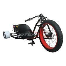 Red 6.5Hp Motorized Drift Trike Go Cart 3 Wheeler Gas Powered Big Wheel Kart