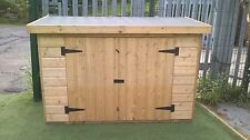 """6ft wide x 2ft 6"""" deep x 4ft high WOODEN PRESSURE TREATED GARDEN SHED - NEW"""