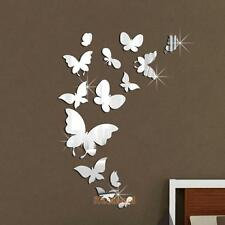 Acrylic Mirror Butterfly Wall Decal Mural DIY Art Removable Home Decor Stickers