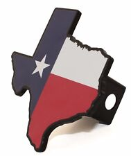 State of Texas Flag Metal Hitch Receiver Cover