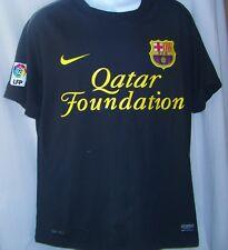David Villa Soccer Jersey #7 Nike Fc Barcelona Qatar Foundation Mens Medium
