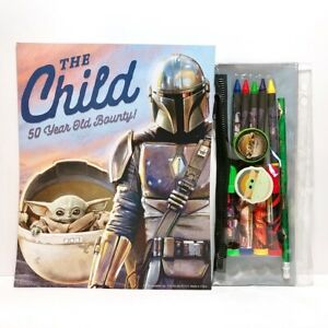 STAR WARS: The Mandalorian The Child (Grogu) Pencil Holder Markers Crayons Pad