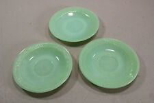 Lot of 3 Anchor Hockings Fire King Jadeite Jade-ite Glass  Dinnerware Saucers