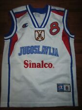 Yugoslavia, Champion, 2002 basketball jersey, Stojakovic, youth, size 11-12, 128
