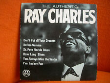 VINYL 45T – RAY CHARLES : DON'T PUT ALL YOUR DREAMS + 5 – 1949 CONCERT HALL