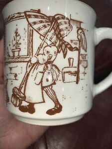 Vintage Sarah Kay Holly Hobbie Coffee Tea Mug Cup Ceramic