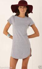 Summer Short Sleeve Dresses for Women with Slit