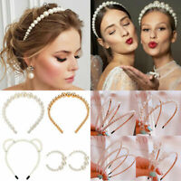 Elegant Pearl Headband Hairband Hoops Girls Bride Wedding Hair Accessory