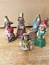 Tom Clark Gnomes - Darcy Thimblena Mendy Cairn Darn - Signed 1986 1987 1988 1989