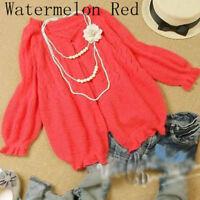 AU SELLER Women's Soft Open Cardigan Sweater Crop Coat Top T101