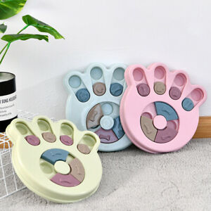 Dog Puppy Puzzle Toy Interactive Food Feeder Treat Dispenser IQ Training Plate