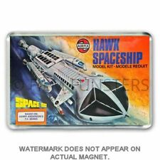 RETRO AIRFIX SPACE 1999 - HAWK SPACE SHIP ARTWORK JUMBO FRIDGE / LOCKER MAGNET