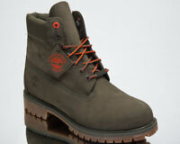 Timberland 6 Inch Premium Waterproof Boots Men's Lifestyle Shoes Green A1QY1