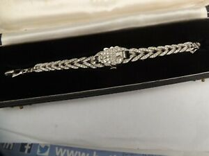 """a ladies 17 jewel  stone set """"norman """" dress watch- boxed and working"""