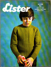 Vintage Lister Knitting Pattern, Boys Raglan Pullover, 26-36in 2296