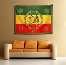 Imperial Standard [drs] Flag Banner Tapestry (126cmx95cm) Lion of Judah Ethiopia