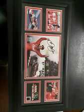 vintage DALE EARNHARDT JR BUDWEISER AUTOGRAPHED PHOTO & PIECE OF #8 TIRE w/FRAME