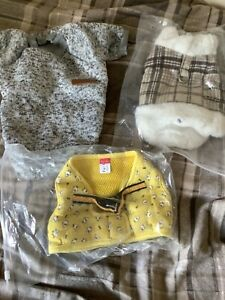 Bundle dog clothes with dog harness & lead for small breeds. Size S&L small dog