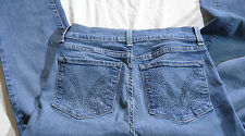 Not Your Daughters Jeans Size 4 Women's NYDJ  Lift Tuck Purple Rhineston Pockets