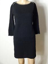 715c211b15c5 PROMOD Kleid Gr. D-S schwarz Glitzer Ausschnitt Stiefel Strick 3 4-Arm-