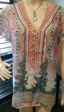 BNWT RPP $139.95 Size 14 SEVEN SISTERS  KADJU blouse top NEW 108cm pink orange