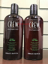 American Crew 3 In 1 Tea Tree - Shampoo, Conditioner & Body Wash 8.4oz (2 PACK)