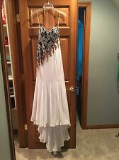 Alyce Designs Beaded Sequin Gown Evening Formal Pageant Gown  Prom Dress Size 2