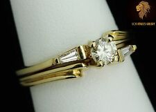 Diamond rings set, 14K Gold, NEW with Tags, engagement or wedding set