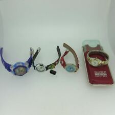 Lot of 4 Ladies Quartz Swatch Timex Cat in The Hat Rugrats Watches As-Is