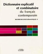Dictionnaire Explicatif Et Combinatoire Du Français Contemporain:-ExLibrary