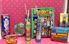 Dollhouse Miniature Fireworks-The Works Including Bottle Rockets-Not Real  1:12