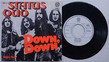 "STATUS QUO 'Down, Down / Night Ride' 1974 Belgian 7"" / 45 vinyl single"