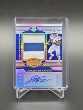 2020 Panini Plates & Patches Jonathan Taylor Rookie Patch Auto SP /50 RPA