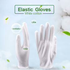 12 Pairs White Working Gloves Cotton Moisturising Hand Care Honor Guard Gloves