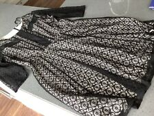 Ladies Star By Julian Macdonald Black Lace Dress With Cream Lining Size 18