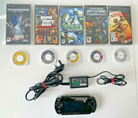 Sony PSP 1003 Console with Power Adaptor & 10 Games - Tested and Working (A)