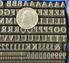 Vintage Alphabets Letterpress Printing Type Bbamps 18pt Caslon Mn70 6
