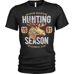 Hunting Season T-Shirt Wilderness club game hunters Unisex Mens